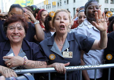 Hotel Maids Photo - Hotel maids demonstrate outside the Dominique Strauss-Kahn arraignment hearing outside the Manhattan criminal court on June 6 2011 in New York City