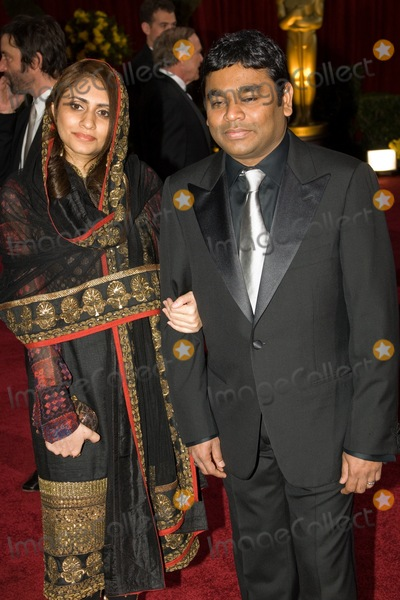 AR Rahman Photo - AR Rahman (right) nominated for Music (Score) and Music (Song) for Slumdog Millionaire Sairaa Rahman arrive at the 81st Annual Academy Awards held at the Kodak Theater on February 22 2009 in Hollywood CA
