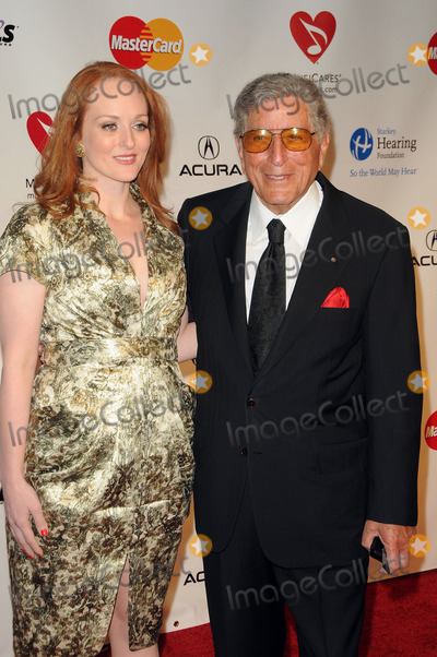 Antonia Bennett Photo - Singer Tony Bennett (R) and his daughter singer Antonia Bennett arriving at the 2011 MusiCares Person of the Year Tribute to Barbra Streisand at the Los Angeles Convention Center on February 11 2011 in Los Angeles CA