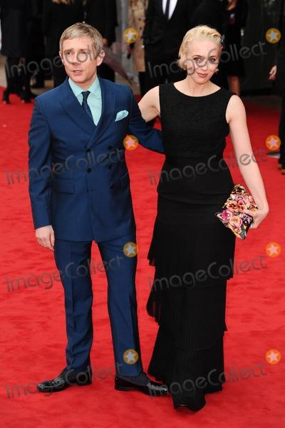 Amanda Abbington Photo - Martin Freeman and wife Amanda Abbington arriving for the TV BAFTA Awards 2013 Royal Festival Hall London 12052013 Picture by Steve Vas  Featureflash