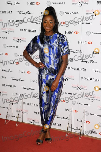Aj Odudu Photo - AJ Odudu arriving for the Marie Claires 25th Anniversary celebration at the Cafe Royal Hotel London 17092013 Picture by Alexandra Glen  Featureflash