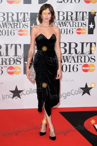 Alexa Chung Photo - Alexa Chung at The BRIT Awards 2016 at the O2 Arena LondonFebruary 24 2016  London UKPicture Steve Vas  Featureflash