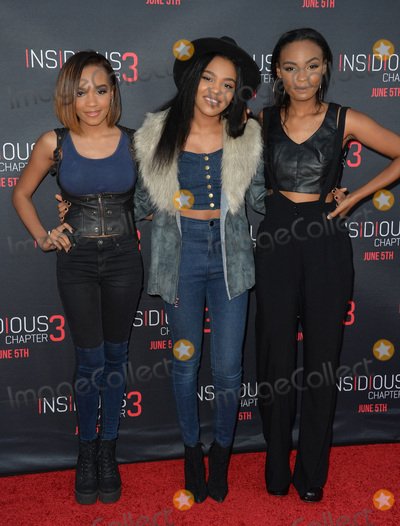 McClain Sisters Photo - Singeractress China Anne McClain  sisters Sierra McClain  Lauryn McClain - of pop group McClain - at the world premiere of Insidious Chapter 3 at the TCL Chinese Theatre HollywoodJune 5 2015  Los Angeles CAPicture Paul Smith  Featureflash