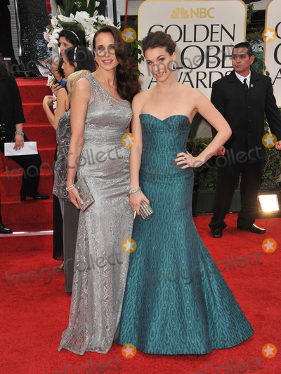 Andie McDowell Photo - Andie McDowell  Rainey Qualley at the 69th Golden Globe Awards at the Beverly Hilton HotelJanuary 15 2012  Beverly Hills CAPicture Paul Smith  Featureflash