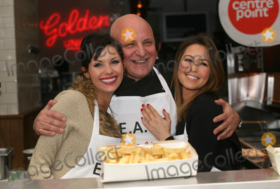 Aldo Zilli Photo - Rachel Stevens Aldo Zilli and Jessica-Jane Clement during the  EATT (Eat at the Table) photocall The Golden Union Chip Shop  London 08022012 Picture by Alexandra Glen  Featureflash