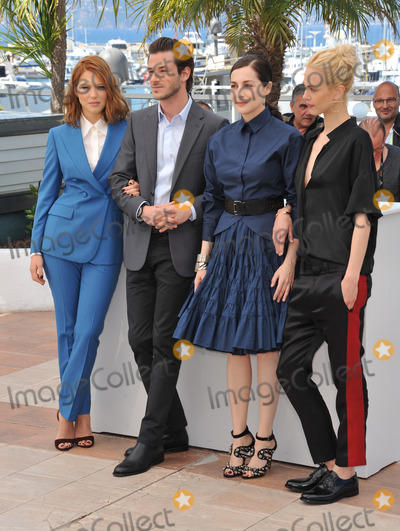 Aymeline Valade Photo - Lea Seydoux (left) Gaspard Ulliel Amira Casar  Aymeline Valade at photo call for their movie Saint-Laurent at the 67th Festival de CannesMay 17 2014  Cannes FrancePicture Paul Smith  Featureflash