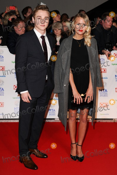 Hetti Bywater Photo - Sam Srike and Hetti Bywaterarrives for the National TV Awards 2014 at the O2 arena Greenwich London22012014 Picture by Steve Vas