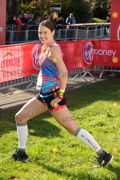 Charlie Webster Photo - Charlie Webster poses at the start of the 2014 Virgin Active London Marathon Blackheath Common London 13042014 Picture by Steve Vas  Featureflash