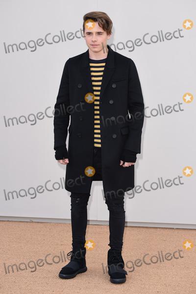 Brooklyn Beckham Photo - Brooklyn Beckham arriving at the Burberry Prorsum show during The London Collections Menswear AW 2016 at Kensington Gardens LondonJanuary 11 2016  London UKPicture Steve Vas  Featureflash
