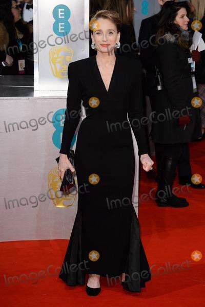 Kristin Scott Thomas Photo - Dame Kristin Scott Thomas arrives for the BAFTA Film Awards 2015 at the Royal Opera House London 08022015 Picture by Steve Vas  Featureflash