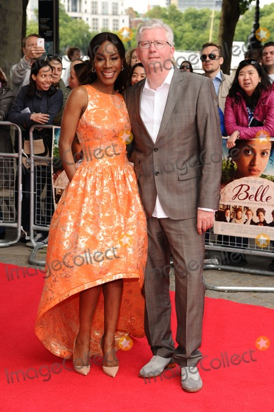 Amma Asante Photo - Amma Asante and husband arrives for the Belle premiere at the BFI South Bank London 05062014 Picture by Steve Vas  Featureflash
