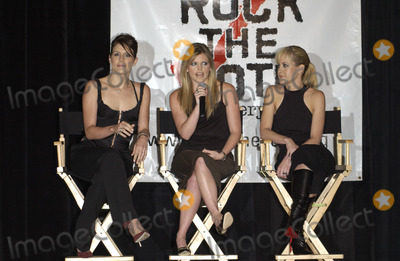 The Dixie Chicks Photo - Countrypop group THE DIXIE CHICKS - EMILY ROBISON (left) NATALIE MAINES  MARTIE MAGUIRE at press conference in Santa Monica California for Rock the Vote to launch the Chicks Rock Chicks Vote campaignJuly 21 2003 Paul Smith  Featureflash