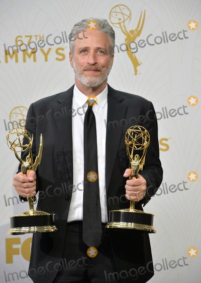 Jon Stewart Photo - Jon Stewart at the 67th Primetime Emmy Awards at the Microsoft Theatre LA LiveSeptember 20 2015  Los Angeles CAPicture Paul Smith  Featureflash