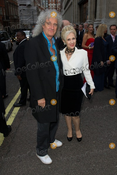 Anita Dobson Photo - Brian May and Anita Dobson arriving for the 2013 Pride of Britain Awards at the Grosvenor House Hotel London 07102013 Picture by Dave Norton  Featureflash