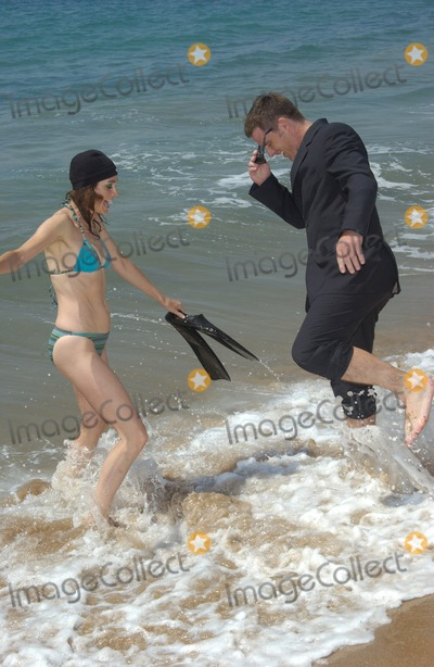Sean Young Photo - Actress SEAN YOUNG  actor BEN BROWDER on the Carlton Beach in Cannes France to promote their new movie A Killer Within May 13 2004