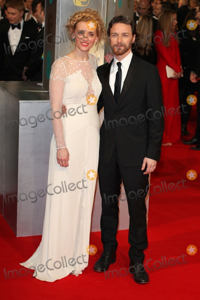 Anne Marie Duff Photo - Anne Marie Duff and James McAvoy arriving for the 67th British Academy Film Awards - BAFTAS - at the Royal Opera House London 08022015 Picture by Alexandra Glen  Featureflash