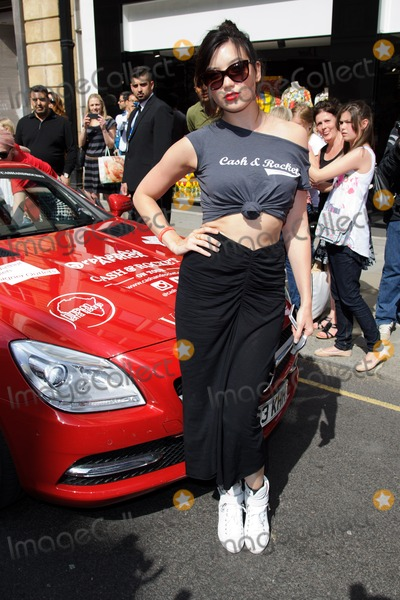 Daisy Lowe Photo - Daisy Lowe at the end of the Cash and Rocket Rally Knightsbridge London 08062014 Picture by Steve Vas  Featureflash