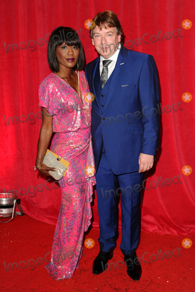 Diane Parish Photo - Diane Parish and Adam Woodyatt arriving for the 2014 British Soap Awards at the Hackney Empire London 24052014 Picture by Steve Vas  Featureflash