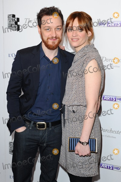 Anne Marie Duff Photo - James McAvoy and Anne Marie Duff arriving for the South Bank Sky Arts Awards 2013 at the Dorchester Hotel London 12032013 Picture by Alexandra Glen  Featureflash