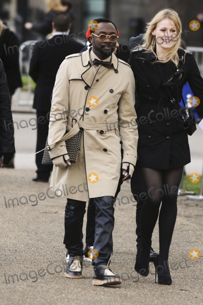 e6fba6ed902f ... william Photo - Will i Am arriving for the Burberry Prorsum fashion show  as part of