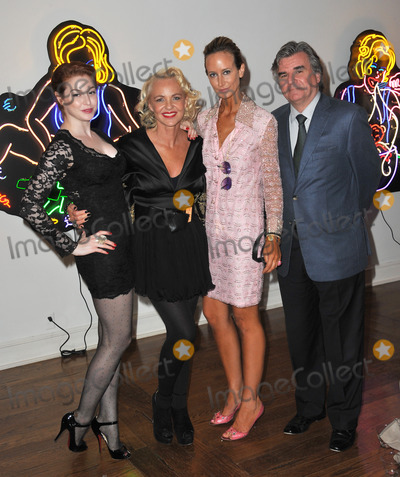 Amanda Eliasch Photo - Amanda Eliasch (centre) with Esm Bianco (left)  Lady Victoria Hervey  Bob Peirce former British Consul-General to Los Angeles at reception for Eliaschs neon art exhibition Peccadilloes at the Leadapron Gallery West HollywoodJune 16 2011  Los Angeles CAPicture Paul Smith  Featureflash