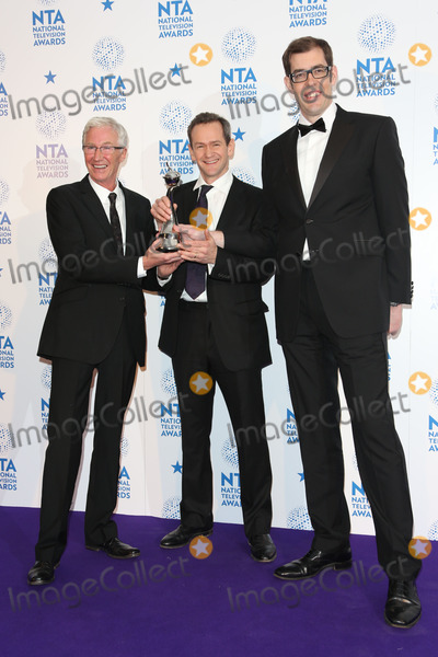 Richard Osman Photo - Paul OGrady Alexander Armstrong and Richard Osman in the winners room at The National Television Awards (NTAs) 2013 held at the O2 arena London 23012013 Picture by Henry Harris  Featureflash
