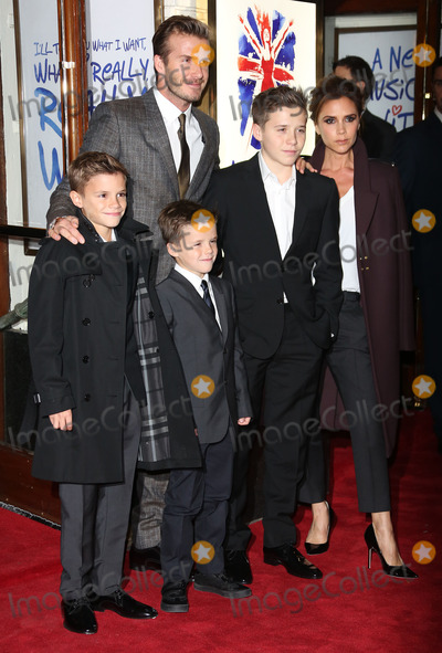 Brooklyn Beckham Photo - David Beckham Victoria Beckham Brooklyn Beckham Romeo Beckham and Cruz Beckham arriving for VIVA Forever Spice Girls the Musical held at the Piccadilly Theatre 11122012 Picture by Henry Harris  Featureflash