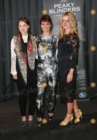 Sophie Rundle Photo - Sophie Rundle Helen McCrory Annabelle Wallis arriving for the UK premiere of Peaky Blinders held at the BFI Southbank London 21082013 Picture by Henry Harris  Featureflash