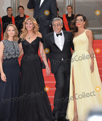 Amal Clooney Photo - Actor George Clooney  wife Amal Clooney  actress Julia Roberts  director Jodie Foster at the gala premiere for Money Monster at the 69th Festival de CannesMay 12 2016  Cannes FrancePicture Paul Smith  Featureflash