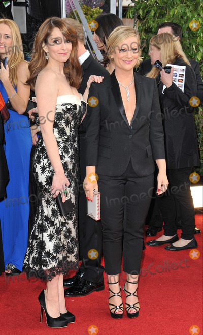 AMY POHLER Photo - Amy Pohler  Tina Fey at the 70th Golden Globe Awards at the Beverly Hilton HotelJanuary 13 2013  Beverly Hills CAPicture Paul Smith  Featureflash