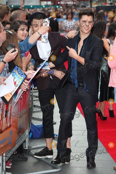 Jaymi Hensley Photo - Jaymi Hensley and JJ Hamblett  from Union J arriving for The Inbetweeners 2 World Premiere at Vue West End London 05082014 Picture by Alexandra Glen  Featureflash