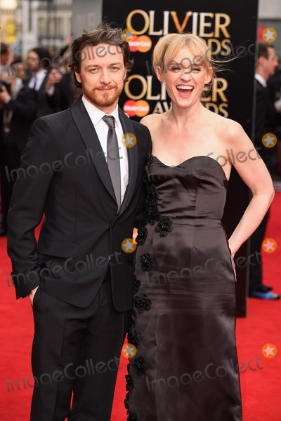 Anne-Marie Duff Photo - James McAvoy and Anne Marie Duff arrives for the Olivier Awards 2015 at the Royal Opera House Covent Garden London 12042015 Picture by Steve Vas  Featureflash