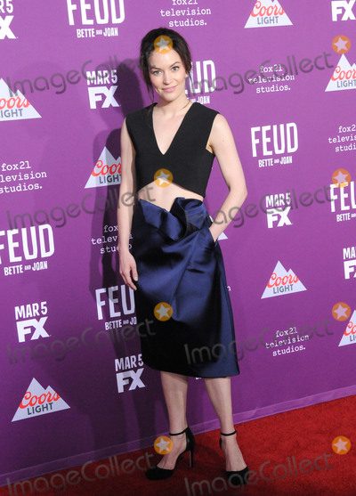 Graumans Chinese Theatre Photo - HOLLYWOOD CA - MARCH 1  Actress Britt Lower attends Red Carpet Event for FXs Feud Bette And Joan at Graumans Chinese theatre on March 1 2017 in Hollywood California  (Photo by Barry KingImageCollectcom)