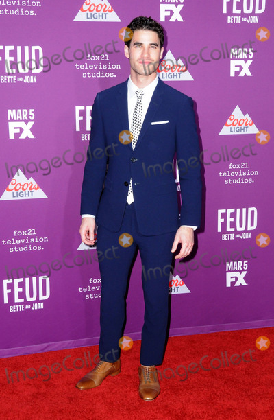 Graumans Chinese Theatre Photo - HOLLYWOOD CA - MARCH 1  Actor Darren Criss attends Red Carpet Event for FXs Feud Bette And Joan at Graumans Chinese theatre on March 1 2017 in Hollywood California  (Photo by Barry KingImageCollectcom)