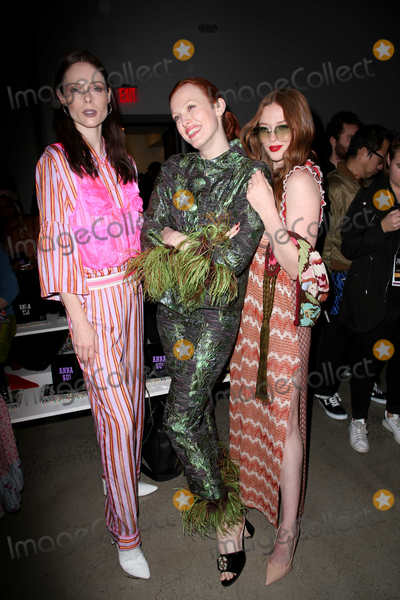 Larsen Thompson Photo - February 10 2020 New York New York USA COCO ROCHA KAREN ELSON LARSEN THOMPSON at the Anna Sui FW 2020 Fashion ShowSpring Studios NYCFebruary 10 2020Photos by     Photos Inc (Credit Image  Sonia MoskowitzGlobe Photos via ZUMA Wire)