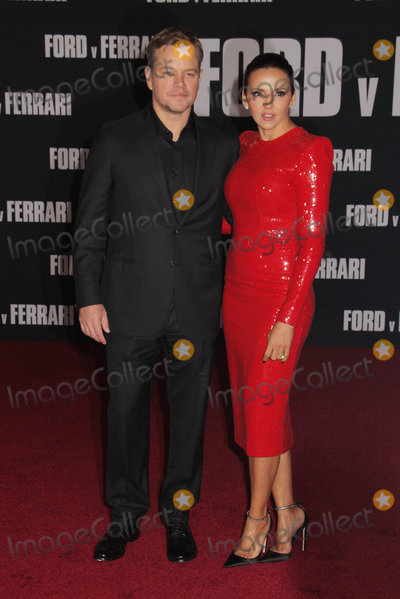 The Specials Photo - Matt Damon Luciana Bozan Barroso 11042019 The Special Screening of Ford v Ferrari held at TCL Chinese Theater in Los Angeles CA  Photo by Izumi Hasegawa  HollywoodNewsWireco