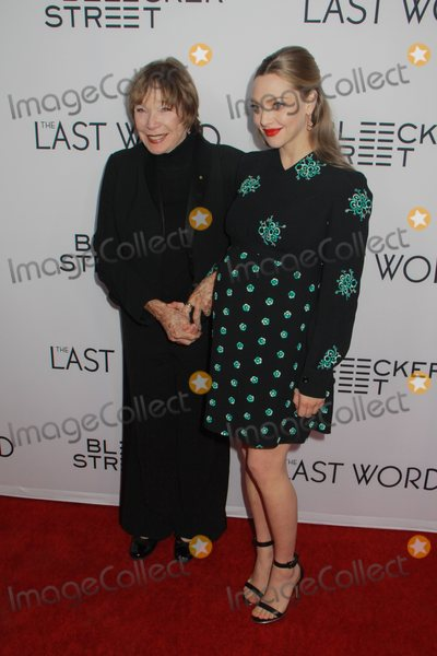 Shirley Maclaine Photo - Shirley Maclaine Amanda Seyfried 312017 The Los Angeles Premiere of The Last Word held at the Arclight Hollywood in Los Angeles CA Photo by Julian Blythe  HollywoodNewsWireco