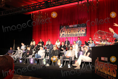 Anthony Russo Photo - Winston Duke Dave Bautista Don Cheadle Elizabeth Olsen Mark Ruffalo Tom Hiddleston Sebastian Stan Anthony Mackie Pom Klementieff Chris Pratt Scarlett Johansson Kevin Feige Robert Downey Jr Zoe Saldana Chris Hemsworth Letitia WrightDanai Gurira Tom Holland Anthony Russo Josh Brolin Joe Russo Chadwick Boseman Paul Bettany 04222018 Avengers Infinity War Press Conference held at The Montage Beverly Hills Luxury Hotel in Beverly Hills CA Photo by Izumi Hasegawa  HollywoodNewsWireco