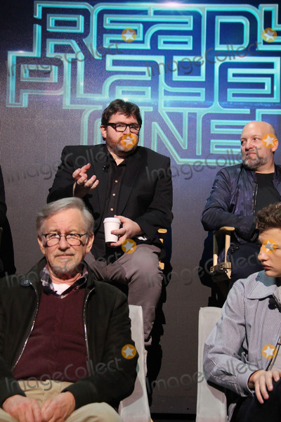 Steven Spielberg Photo - Steven Spielberg Ernest Cline Zak Penn 03152018 Ready Player One Press Junket held at the Goya Studios in Los Angeles CA Photo by Izumi Hasegawa  HollywoodNewsWireco