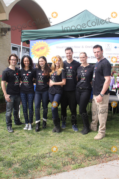 Jenna Lind Photo - Andrew Lees Cynthia Addai-Robinson Jenna Lind Ellen Hollman Daniel Feuerriegel Vanessa Cater Stephen Dunlevy03202013 2013 Visual Impact Nowh Charity Event with eSpartacus War of the Damnedf Cast Volunteer held at Visual Impact Now Eye Clinic Los Angeles Science Center Los Angeles CA Photo by Hanako Sato  HollywoodNewsWirenet