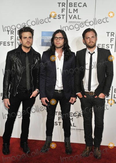 Jared Followill Photo - NEW YORK NY - APRIL 21  (L-R) From the rock group Kings of Leon guitarist Jared Followill drummer Nathan Followill and lead singer Caleb Followill attend the premiere of Talihina Sky The Story Of Kings Of Leon during the 2011 Tribeca Film Festival at BMCCTPAC on April 21 2011 in New York City