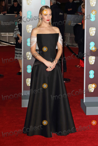 Jennifer Lawrence Photo - London UK Jennifer Lawrence at  EE British Academy Film Awards - Red Carpet Arrivals at the Royal Albert Hall London on Sunday February 18th 2018 Ref LMK73-J1591-190218Keith MayhewLandmark MediaWWWLMKMEDIACOM