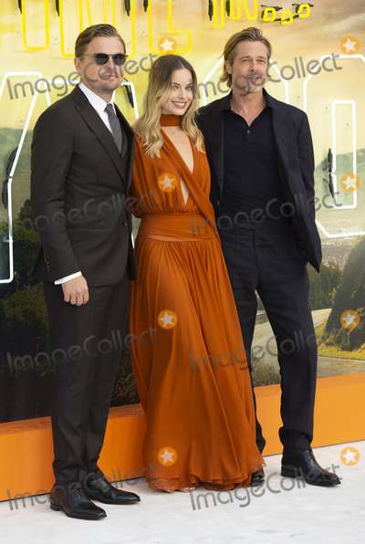 Margot Robbie Photo - London England Leonardo DiCaprio Margot Robbie and Brad Pitt at  the UK Premiere of Once Upon a Time in Hollywood Odeon Luxe Leicester Square London England 30th July 2019Ref LMK386-J5279-310719Gary MitchellLandmark MediaWWWLMKMEDIACOM