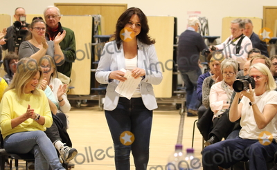 Parliament Photo - Cambourne Cambridgeshire  Heidi Allen MP addresses a Public Meeting in her constituency of South Cambridgeshire at Cambourne Village College todayThe former Conservative MP who left the party to join the new Independent Group was named as the interim leader on 29th March The group is to register as a full political party - to be called Change UK  The Independent Group and contest the upcoming European Parliament elections Cambourne Cambridgeshire UK on Saturday March 30th 2019 RefLMK73-S2310-300319 Keith MayhewLandmark Media WWWLMKMEDIACOM