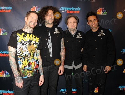 Andy Hurley Photo - New York City NY USA (L-R)  Andy Hurley Joe Trohman Patrick Stump  Steve Wentz of Fall Out Boy at the Americas Got Talent Season 8 Post-Show Red Carpet Event at Radio City Music Hall New York City NY September 4 2013Ref LMK340-45151-050913Carmen ValdesLandmark MediaWWWLMKMEDIACOM