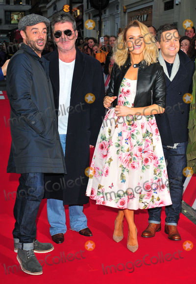 Amanda Holden Photo - London UK David Walliams Anthony McPartlin Simon Cowell Amanda Holden Declan Donnelly and Alesha Dixon  at  Britains Got Talent Judges Photocall on the Red Carpet at the London Palladium London on Sunday January 28th 2018Ref LMK315-J1470-290118Can NguyenLandmark MediaWWWLMKMEDIACOM
