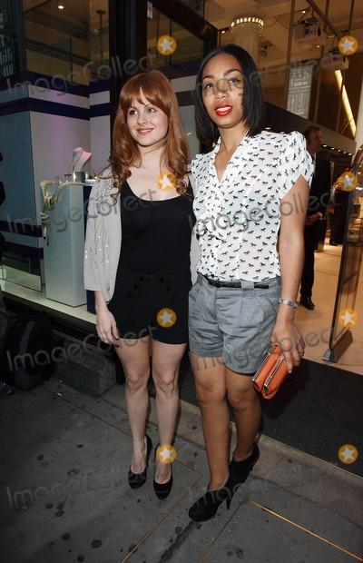 Tina OBrien Photo - London UK  210411Tina OBrien and Zaraah Abraham at the Pixie Lott Lipsy Party at Swarovski Crystallised London21 April 2011Keith Mayhew  Landmark Media