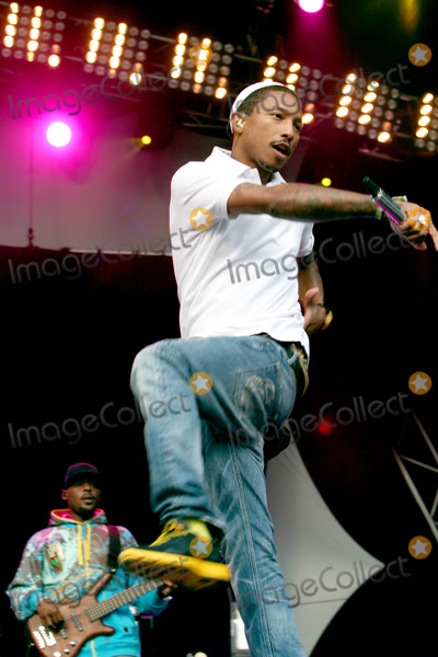 NERD Photo - London UK NERD performs live on the main stage at the Lovebox Weekender 2009 Day 1 in Victoria Park London NERD are Pharrell Williams Chad Hugo and Shay Haley  18th July 2009Taya UddinLandmark Media
