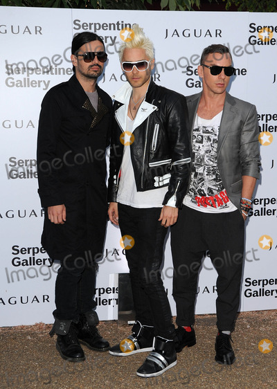 30 Seconds to Mars Photo - London UK Tomo Milicevic Jared Leto and Shannon Leto of rock band 30 Seconds to Mars at the Serpentine Gallery summer party in Kensington Gardens  in London July 8 2010 SydLandmark Media