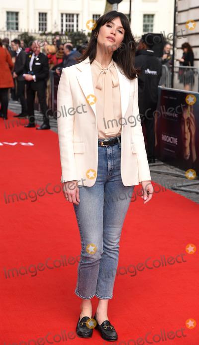 Gemma Arterton Photo - London UK Gemma Arterton at Radioactive UK Premiere held at Cuzon Mayfair London on Sunday 8 March 2020 Ref LMK392-2982-080320Vivienne VincentLandmark Media WWWLMKMEDIACOM